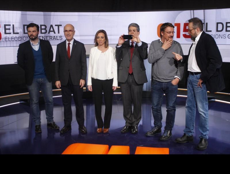 Els candidats catalans al 20-D, en el debat de TV3 Oriol Duran