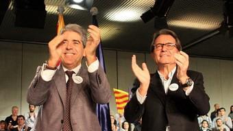Mas i Homs, durant el míting final a Barcelona ACN