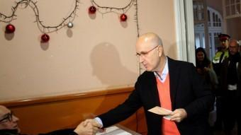 Josep Antoni Duran i Lleida, candidat d'Unió, ha votat a Sarrià, Barcelona ACN