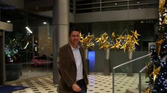 El cap del PP al Parlament, Xavier Garcia Albiol, arribant aquest vespre a l'hotel Gran Marina ACN