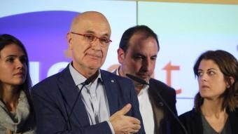 El candidat d'Unió,Josep Antoni Duran i Lleida, va comparèixer a la seu d'Unió per valorar els resultats dels comicis. ELISABETH MAGRE