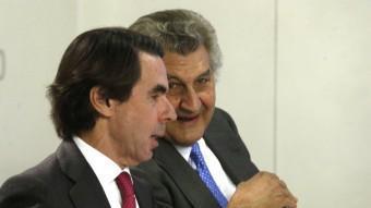 L'expresident espanyol José María Aznar, amb Jesús Posada, a la reunió del comitè executiu nacional del PP EFE