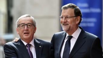 Juncker i Rajoy en una imatge da'quest octubre AFP