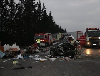L'accident de dissabte es va cobrar la vida de dues persones, sumant un total de 15 morts a l'N-340. ACN
