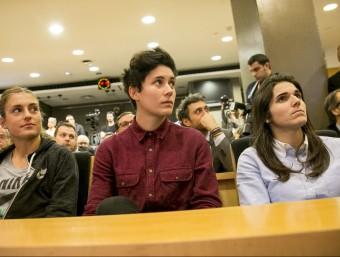 Alèxia Putellas, Laura Ràfols i Andrea Pereira, a la presentació del partit ALBERT SALAMÉ