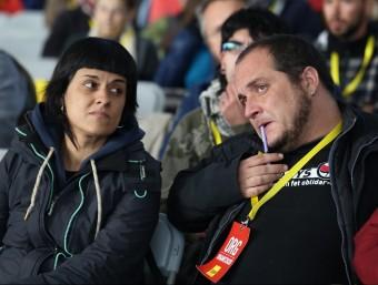 Anna Gabril i David Fernández a l'assemblea nacional de la CUP a Sabadell ANDREU PUIG