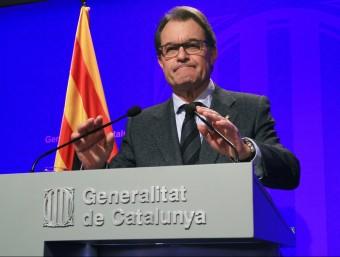 El president de la Generalitat, Artu Mas ELISABETH MAGRE