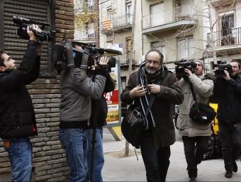 Antonio Baños, arribant diumenge al consell polític de la CUP d'aquest diumenge EFE