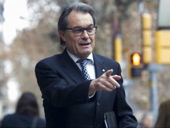 El president de la Generalitat, Artur Mas, arribant aquest matí a la seu de CDC EFE