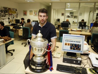 Jordi Torras , en una visita a la redacció de l'Esportiu O.DURAN