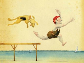 Una il·lustració del llibre 'Àlbum per a dies de pluja' DANI TORRENT
