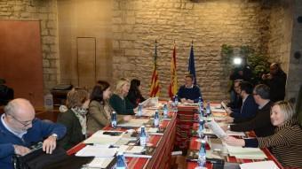 El president de la Generalitat Valenciana, Ximo Puig, reunit amb el seu govern a Morella. EL PUNT AVUI