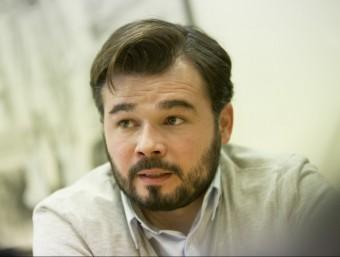 Gabriel Rufián, cap de llista d'ERC al Congrés dels Diputats ALBERT SALAMÉ