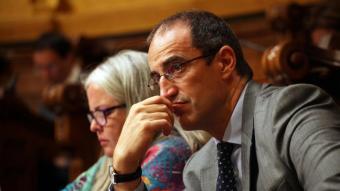 Antoni Vives, en un ple de l'Ajuntament de Barcelona del 2015