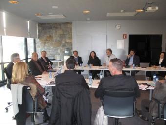 Una imatge de la reunió d'ahir