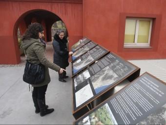 Uns panells informatius expliquen el passat del molí i de l'entorn ORIOL DURAN