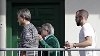 L'expresident de la Diputació de València, Alfonso Rus, en les dependències de la Guàrdia Civil de València MANUEL BRUQUE / EFE