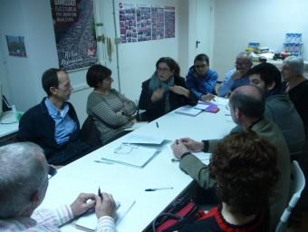 Una anterior reunió de la Coordinadora de Guanyant Torrent. ESCORCOLL