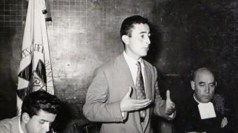 Joan Paredes en una intervenció a La Salle, en l'època de l'Acció Catòlica. EPA