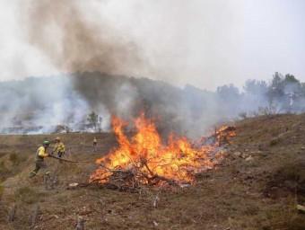 Una de les cremes controlades que s'ha realitzat a la Baronia de Rialb AGENTS RURALS