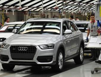 Cadena de muntatge de l'Audi Q3, a la planta de Martorell EP