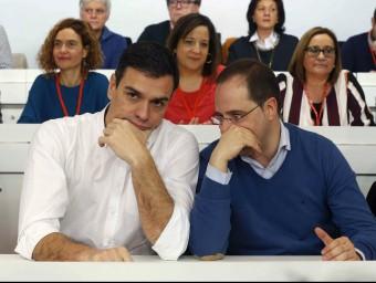 Sánchez i Luena, durant el Comitè Federal del PSOE d'aquest dissabte EFE