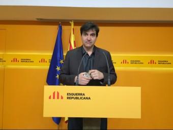 Sabrià, en una roda de premsa a la seu d'ERC EUROPA PRESS