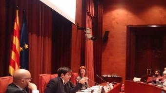 Pisarello , primer tinent d'alcalde de Barcelona, intervenint a XXV Jornada del Consell Català del Moviment Europeu EP
