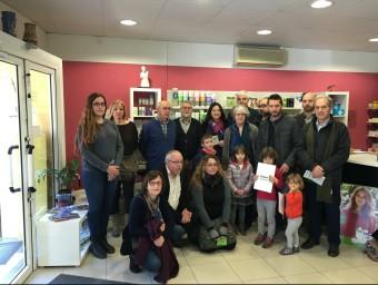 Els assistents a la presentació del Al Gironès, llegim! que es va fer a Aiguaviva EPA