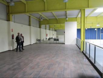 Els espais de l'altell del recinte firal que donaran cabuda al viver d'empreses E.A