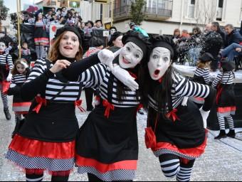 Alegria a la rua de Sant Antoni de Calonge, ahir EL PUNT AVUI