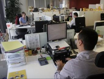 Una oficina d'una multinacional on es mesura la felicitat.  ARXIU