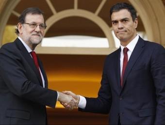 Mariano Rajoy i Pedro Sánchez en una imatge d'arxiu EP