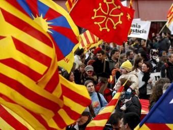 Imatge d'arxiu d'una manifestació del 7 de novembre, Diada de Catalunya Nord.