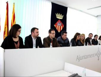 Alcaldes i regidors de vuit ajuntaments vallesans, en l'acte de suport d'ahir ACN