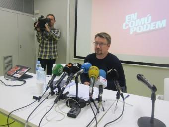 Xavier Domènech (En Comú Podem), aquest dilluns a Barcelona