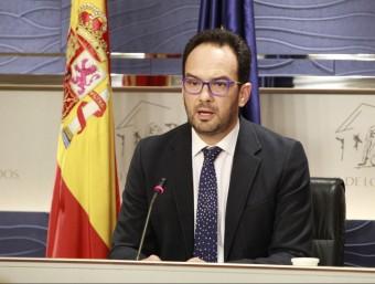 Antonio Hernando, portaveu del PSOE, aquest dilluns al Congrés EFE