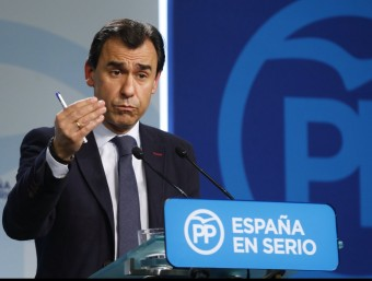 Fernando Martínez-Maíllo, vicesecretari d'Organització del PP, aquest dilluns a la seu del partit EFE