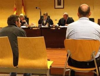 L'acusat durant el judici, celebrat el 27 de gener a la secció 3ª de l'Audiència de Girona G.P