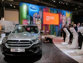 Un Ford Kuga a l'estand de l'empresa automobilística nord-americana, ahir al Mobile World Congress EP