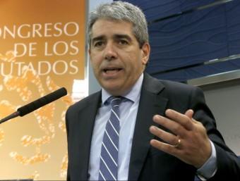 Francesc Homs, ahir dimarts al Congrés dels Diputats