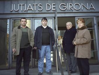 La família Martí Duaigües quan van començar l'aventura el 2012 a Girona. TURA SOLER