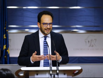 El portaveu del PSOE al Congrés, Antonio Hernando, aquest dimecres a la cambra baixa espanyola EFE