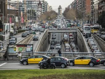 Embussos als accessos de Barcelona,el passat dimecres JOSEP LOSADA