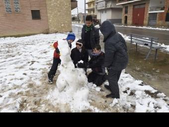 Imatge de la nevada a Lleida i tarragona