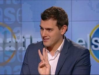 Albert Rivera, líder de Ciutadans, en el plató de 'Els Matins' TV3