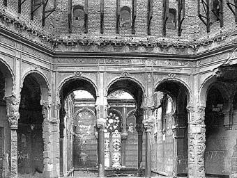 Biblioteca de Sarajevo, una de les fotos exposades MIQUEL RUIZ AVILÉS