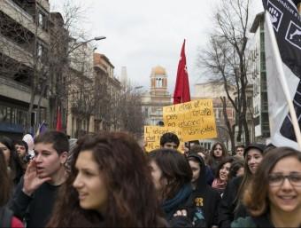 Els darrers temps els estudiants es mobilitzen pel futur model universitari.  ARXIU
