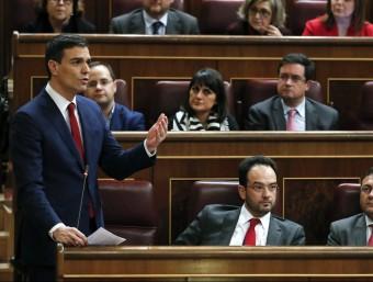Pedro Sánchez, al Congrés dimecres passat EFE