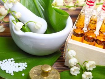 Alguns productes homeopàtics.  ARXIU